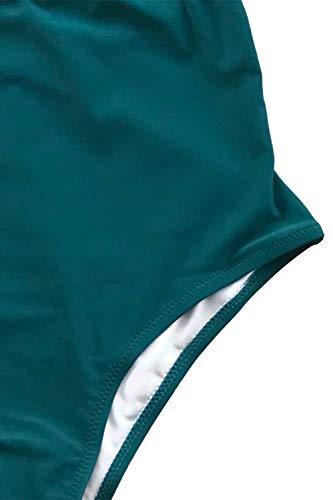 CUPSHE-Womens-Falbala-One-Piece-Swimsuit-Deep-V-Neck-Monokini-Swimsuit
