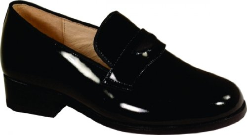 New Yorker Patent Leather Slip On Tuxedo Shoes Size 11.5 Wide