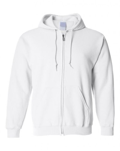 White Hoodie Zip Up | Fashion Ql
