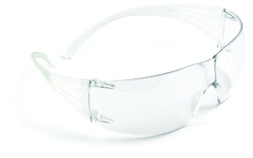 3M SecureFit Protective Eyewear SF201AS, Clear Lens, Anti Scratch - Protective Anti Eyewear Fog