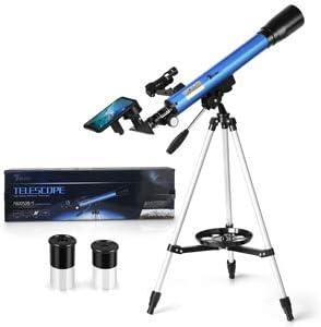 Telmu - Telescopio astronómico para Principiantes con trípode de ...