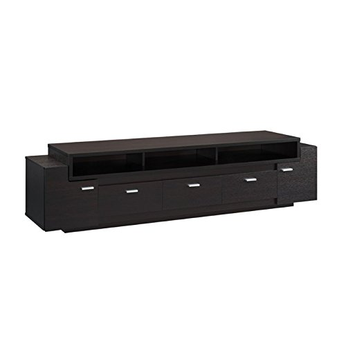 ioHOMES Coley Modern TV Stand, 84'', Cappuccino by HOMES: Inside + Out