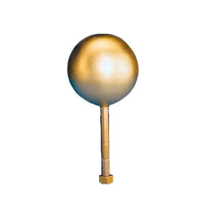 Flagpole ball top ornament 4 Inch Gold Leaf Copper - Ornament Gold Leaf