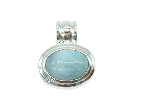 (Larimar Gemstones with 925 Sterling Silver Pendant Hand Made for Women)
