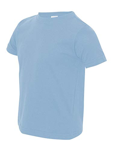 (Rabbit Skins Toddler Fine Jersey T-Shirt 3321 -Light Blue 4T)