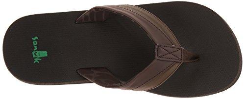 Marrón Oscuro oscuro hombre Marrón para Beer Sanuk Diseño Light de marrón Cozy sandalias xpqwvB6H
