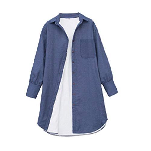 Femmes Hiver Ysfu Longue Chemise Chaud Mode Occasionnel À Manches Tops Longues Tranchée La Blouse Épais Survêtement Manteaux De Dans Veste 0FFnRqO5