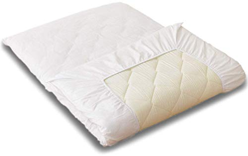 (EMOOR Japanese Traditional Futon Mattress Classe with 100% Cotton Fitted Sheet (White), King Size (71 x 79in))