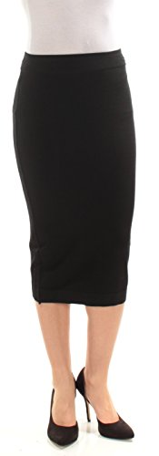 Newport Spandex Skirt - kensie Women's Stretchy Rayon Blend Skirt, Black, X-Small