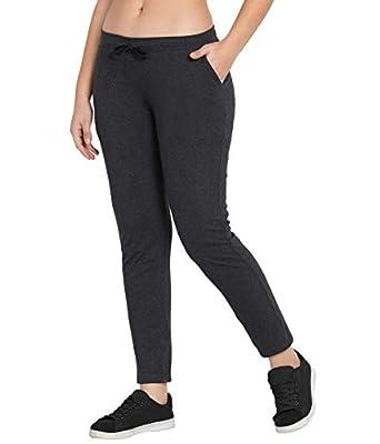 American-Elm Comfort Fit Cotton Track Pants for Women