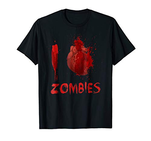 I Love Heart Zombies Halloween T-Shirt Costume Gift for $<!--$19.99-->