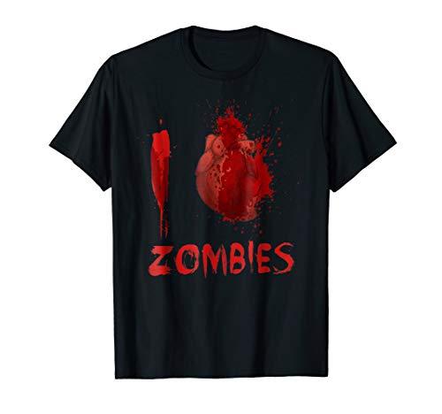 I Love Heart Zombies Halloween T-Shirt Costume Gift ()