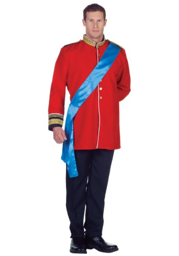 Underwraps Men's Heir, Red/ Blue/Black, One Size - Heir Costumes