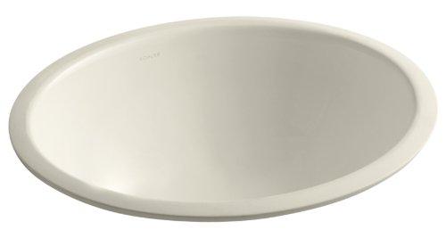 Caxton Almond - Kohler 2205-47 Vitreous china undermount Oval Bathroom Sink, 20.88 x 17.88 x 9 inches, Almond
