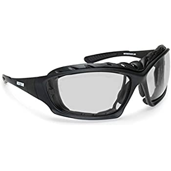 969a37f00a Bertoni Motorcycle Goggles Padded Glasses Interchangeable Arms and Strap -  Antifog Lens - Optical Prescription Carrier Included - AF366A by Bertoni  Italy ...