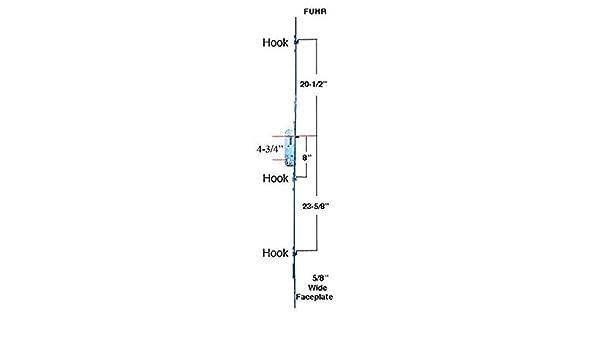 Hoppe Führ, cerradura multipunta, 3 ganchos, 35 mm – 6-8 puerta corredera: Amazon.es: Bricolaje y herramientas