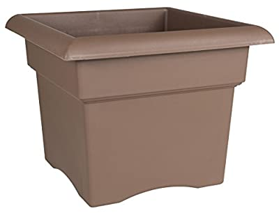 "Bloem 57314CH Veranda Deck Box Planter, 14"", Chocolate"