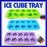 Chef Craft Ice Cube Tray, Assorted Shapes (Pack of 3)