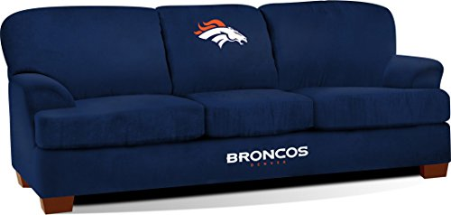 Imperial Officially Licensed NFL Furniture: First Team Microfiber Sofa/Couch, Denver Broncos Fan Back Settee