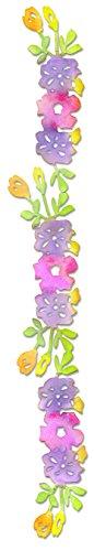 Sizzix Sizzlits Decorative Strip Die - Flower Vine #2 by Scrappy Cat (Strip Vine Accent)