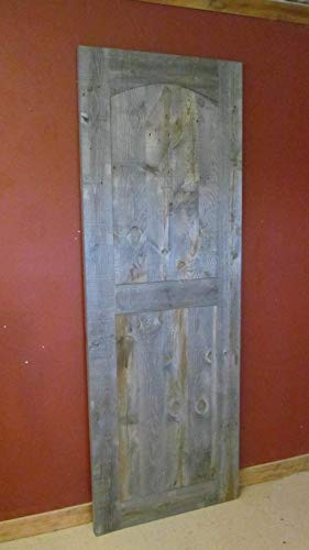 Weathered Gray Barn Wood Door With Arch