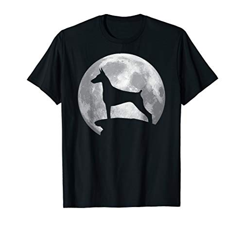 Doberman Pinscher And Moon T-shirt