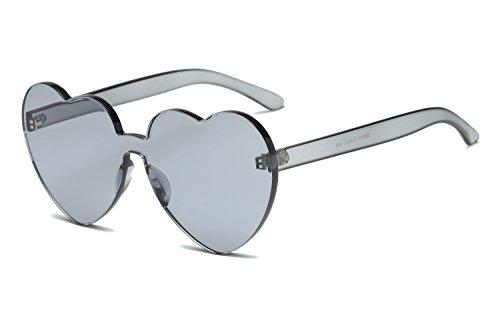 Mujeres Sol YANJING Unidos Estados Love Forma 2 Color Gafas Europa y de Siameses Jelly Sol 6 Gafas en Corazón Corazón los de Color Trend de Gafas rf0IU0n