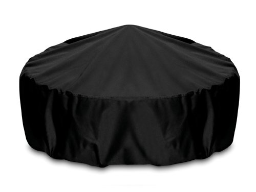 Smart Living Home and Garden 2D-FP48001 Fire Pit Cover With Level 4 UV Protection, 48-Inch, Black by Two Dogs Designs