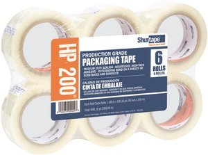 48mm x 100m 1.9 mil Clear Production Grade Packaging Tape Roll ()