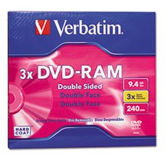 ** Type 4 Double-Sided DVD-RAM Cartridge, 9.4GB, 3x ** by COU
