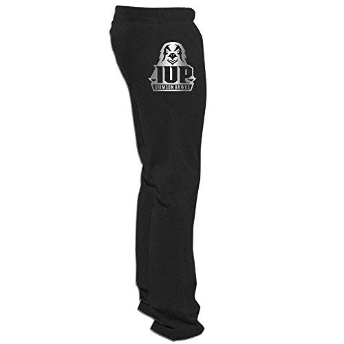 - IUP Crimson Hawks Platinum Logo Men's Sweatpants Black