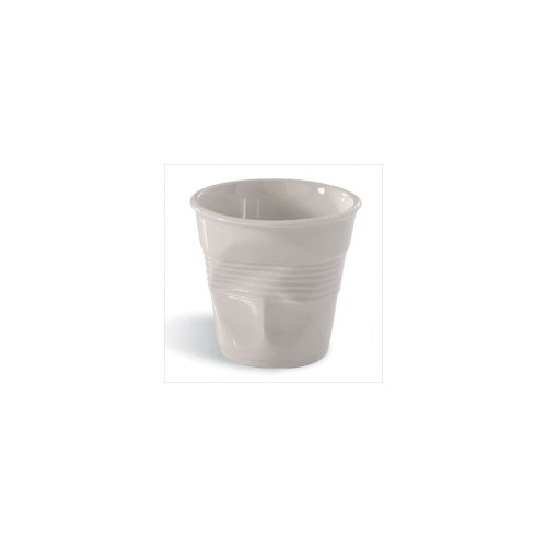 Revol Froisses White Porcelain 6.25 Ounce Crumpled Cappuccino Tumbler, Set of ()