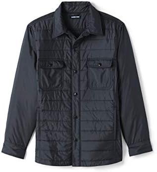 Lands' End Men's Quilted Shirt Jacket