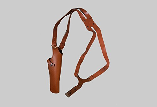 ALS454 Vertical Shoulder Holster Fits 357 Magnum 6'' & Similar Revolvers RH Handmade! Free Extension For Big Body Size! - Revolver Magnum 357 Taurus