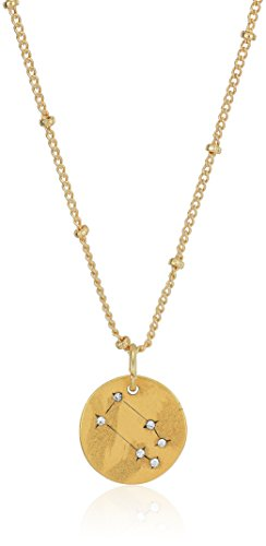 SEQUIN Womens Taurus Stellina Necklace, Gold, (22k Gold Antique Necklace)