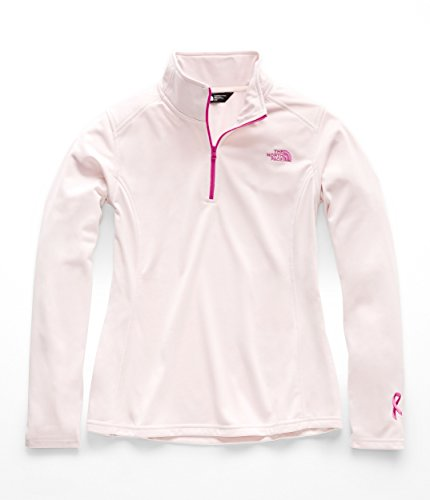 The North Face Women's PR Tech Glacier 1/4 Zip, Purdy Pink/Raspberry Rose - S