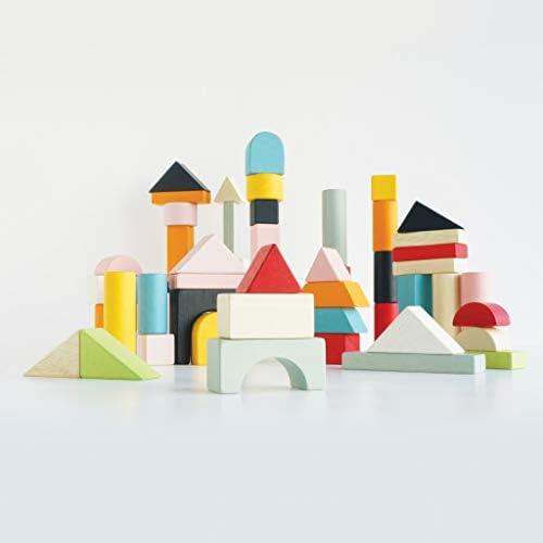 Educational Wooden Building Blocks 60 Piece Set Toy Suitable for 12 Months + Le Toy Van Montessori Style Shape /& Colour Development Toy