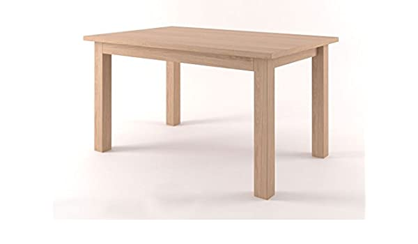 Comedor Mesa 120 x 80 cm Roble Macizo, color: natural: Amazon.es ...