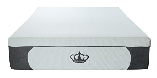 DynastyMattress New! 14.5-Inch CoolBreeze Plush Gel Memory Foam Mattress w/Free Pillows (Queen) ()