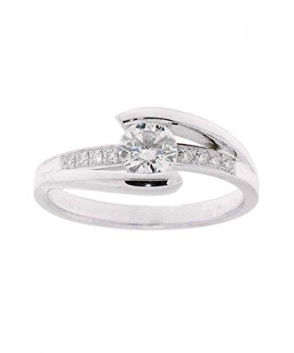 Bague Or 750 Diamant ref 36698