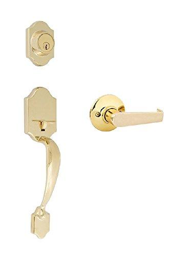 Citiloc 741168 Princeton Dummy Handle set with Lake Tahoe Lever Polished Brass
