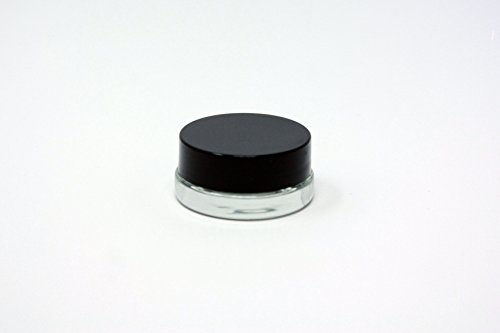 180pcs Thick Bottom Low Profile 7ml Glass Concentrate Jars with Black Lids : Air tight container for medical oils, rosins, waxes, and saucy diamonds by Slick (Image #1)