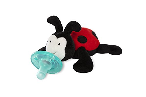 WubbaNub Ladybug Plush Infant Pacifier ()