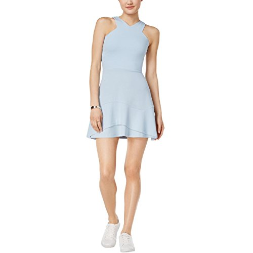 Donne Balza Increspato Iii Bar Blu Luce Elegante Vestito UC6gxq