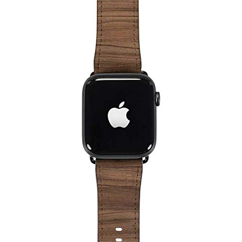 Skinit Natural Walnut Wood Watch Band for Apple Watch - Faux-Leather Watch Band Compatible with Apple Watch 38mm Series 1, Series 2, Series 3, 40mm Series 4