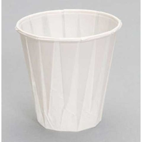 Pleated Four (Paper Pleated Water Cup, 4 oz. (2500 per cs.))