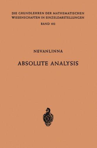 Absolute Analysis (Grundlehren der mathematischen Wissenschaften) (German Edition)