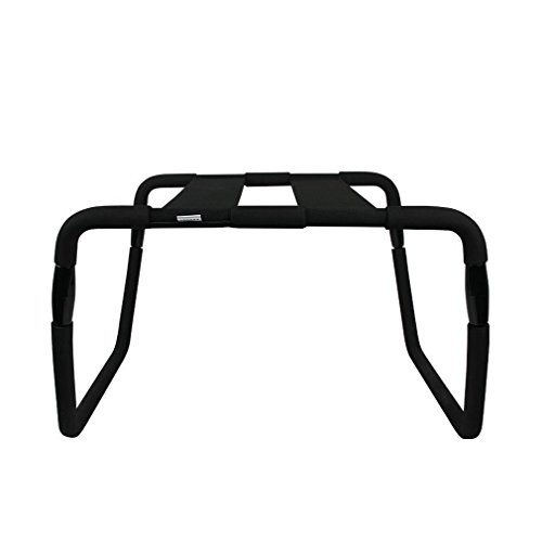 Black Detachable & Adjustable Bounce Stool Chair Bedroom Chair Furniture (Black-1-Upgraded) by Moonight