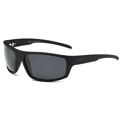 DONNA Cool Sports HD Polarized Fishing Shades Wrap Around Sunglasses UV Protection D116(Matte - Bond Sunglasses