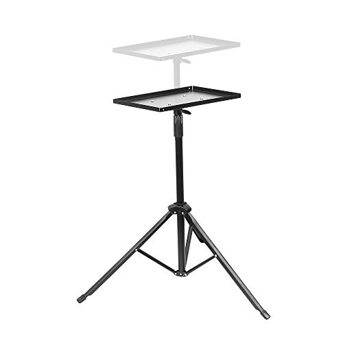 Projector Laptop Tripod Stand, Adjustable Portable Projector Stand, Universal Projector Bracket, Multiple Equipment Holder Mount, Projection Tripod Stand Indoor Outdoor Office Classroom Stage Studio